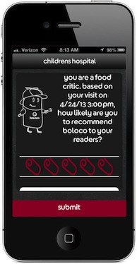 Boloco iPhone App Net Promoter Screen